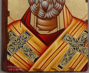 Saint Nicholas the Wonderworker Hand Painted Greek Orthodox Icon