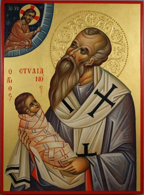 Saint Stylianos of Paphlagonia Hand Painted Orthodox Icon on Wood