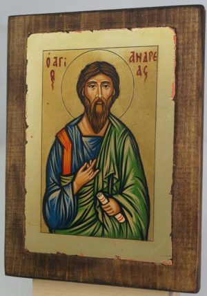 St Andrew the Apostle small Hand Painted Icon Byzantine Orthodox