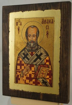St Athanasius the Great small Hand Painted Orthodox Icon