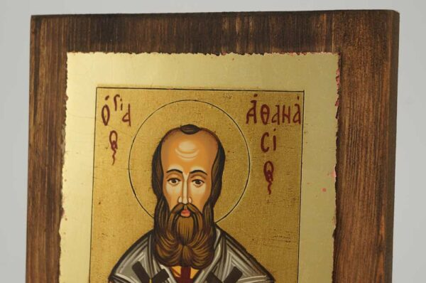 St Athanasius the Great small Icon Hand Painted Byzantine Orthodox