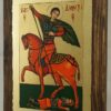 St Demetrius on Horse small Hand Painted Icon on Wood