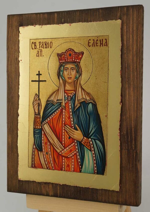 St Helen Equal to Apostles small Icon Hand Painted Byzantine Orthodox