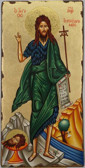 St John the Baptist full body Icon Orthodox Hand Painted