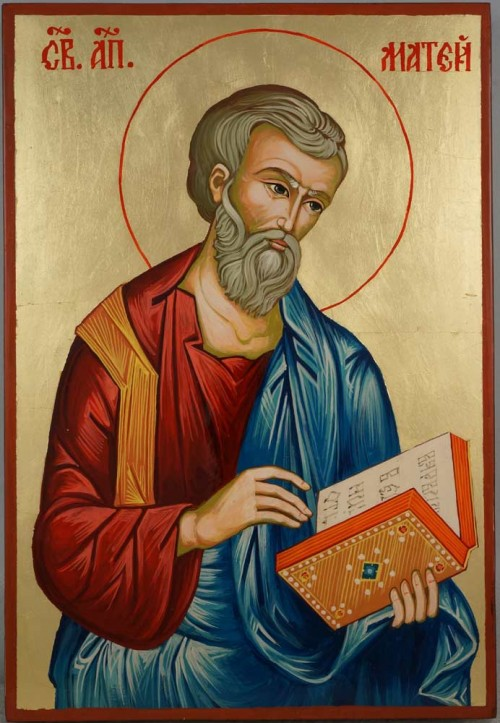 St Matthew the Apostle Large Hand Painted Byzantine Orthodox Icon