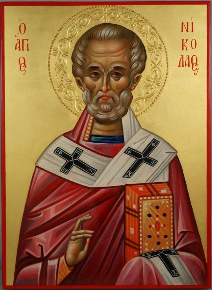 St Nicholas the Wonderworker Hand Painted Byzantine Orthodox Icon