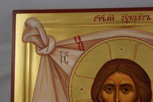 The Holy Face – Mandylion polished gold Large Hand Painted Byzantine Orthodox Icon