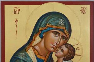 Theotokos Sweet Loving Hand Painted Icon Byzantine Orthodox