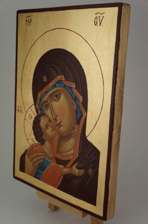 Theotokos of Vladimir Vladimirskaya Icon Hand Painted Byzantine Orthodox