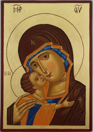 Theotokos of Vladimir Vladimirskaya Icon Hand Painted Orthodox