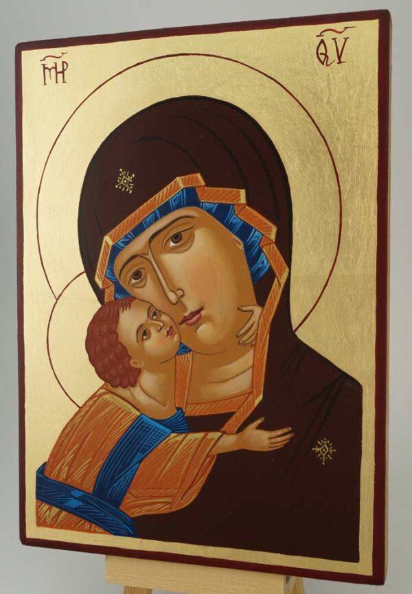 Theotokos of Vladimir Vladimirskaya Icon Hand Painted Orthodox