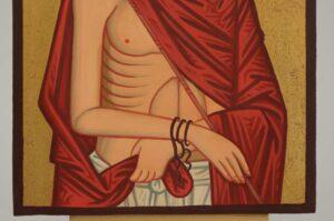 Christ the Bridegroom O Nymphios Icon small Hand Painted Orthodox