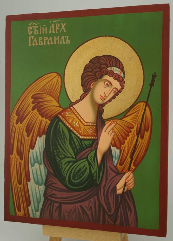 St Archangel Gabriel Icon Hand Painted Byzantine Orthodox