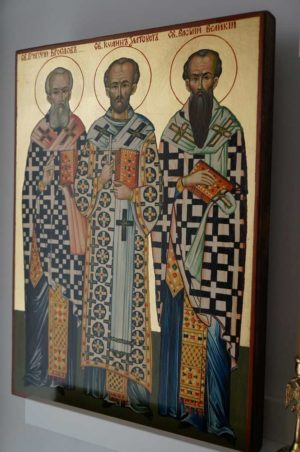 The Three Holy Hierarchs Hand Painted Orthodox Icon