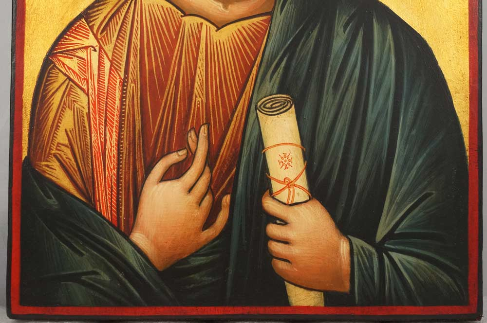 Christ Blessing Vatopedi Large Hand Painted Byzantine Orthodox Icon