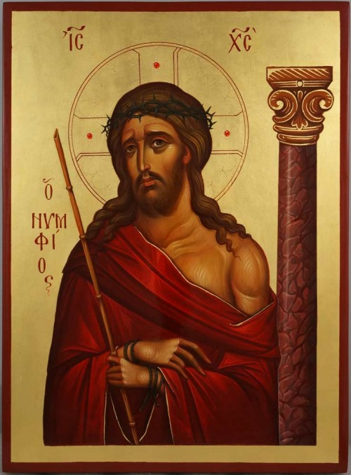 Christ the Bridegroom O Nymphios Hand Painted Byzantine Orthodox Icon