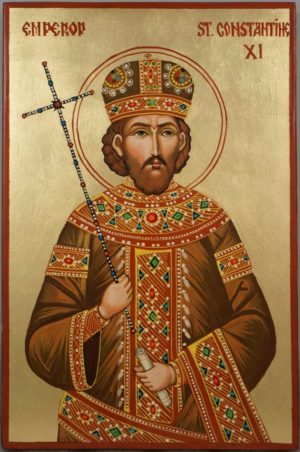 Emperor St Constantine XI Hand Painted Orthodox Icon
