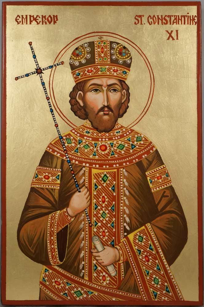 Emperor St Constantine XI Hand Painted Orthodox Icon
