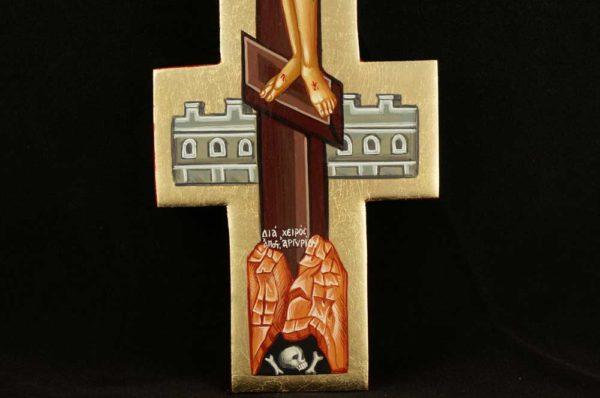Hand Painted Crucifix Byzantine Orthodox Wall Cross