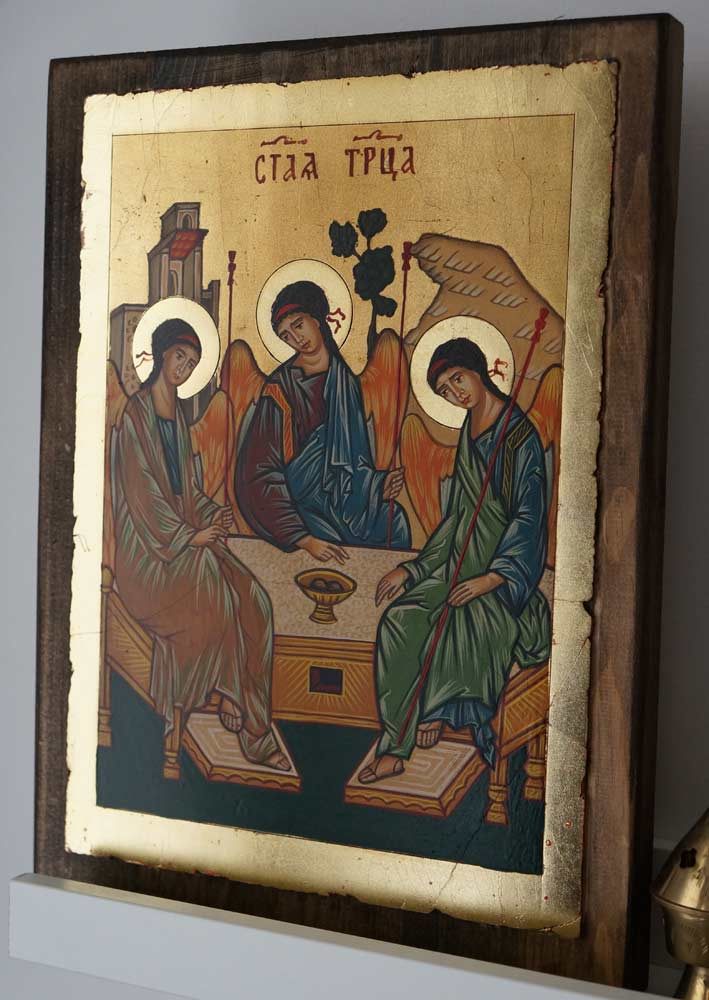 Hospitality of Abraham Holy Trinity Hand Painted Orthodox Icon