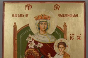 Our Lady of Walsingham Hand Painted Roman Catholic Anglican Icon