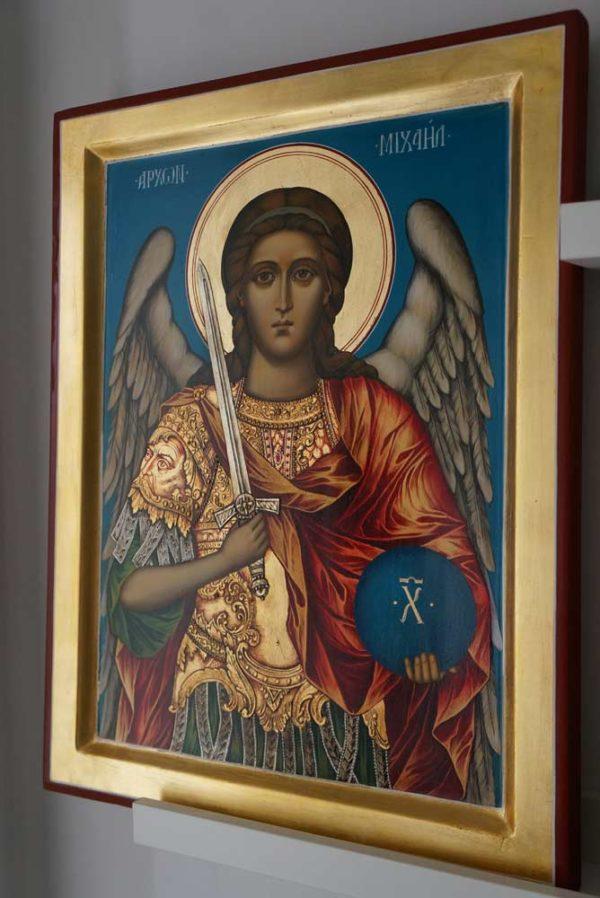 Saint Archangel Michael Hand Painted Icon on Wood Orthodox