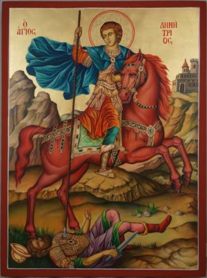 Saint Demetrios of Thessaloniki Hand Painted Orthodox Icon
