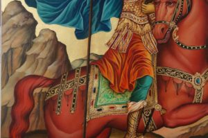 Saint Demetrios of Thessaloniki Hand Painted Orthodox Icon