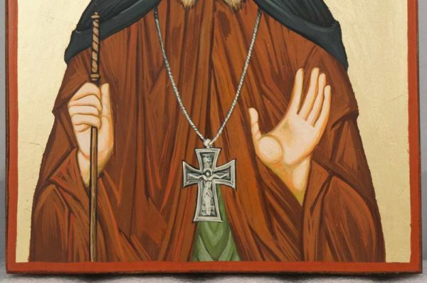 Saint Gabriel Confessor and Fool for Christ Hand Painted Orthodox Icon