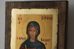 Saint Irene Chrysovalantou Hand Painted Greek Orthodox Icon
