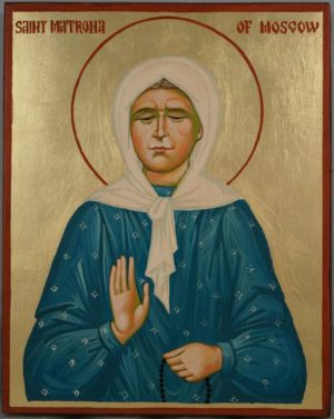 Saint Matrona of Moscow Hand Painted Orthodox Icon