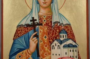 Saint Olga Grand Princess of Kiev Hand Painted Orthodox Icon