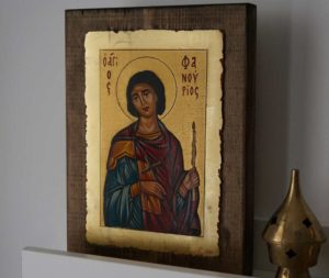 Saint Phanourios Hand Painted Orthodox Icon