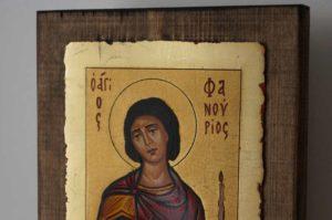 Saint Phanourios Hand Painted Orthodox Icon