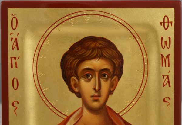 Saint Thomas the Apostle miniature Hand Painted Orthodox Icon