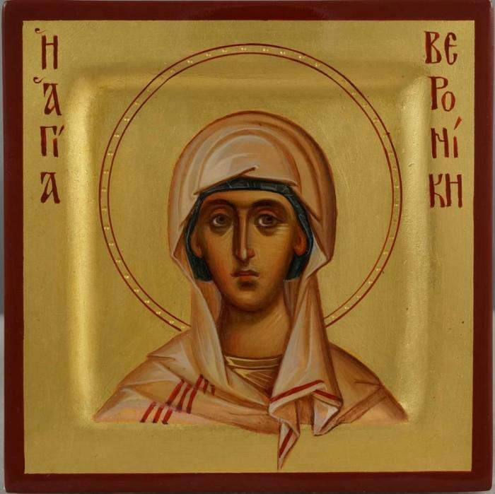 Saint Veronica miniature Hand Painted Orthodox Icon