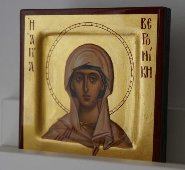 Saint Veronica miniature Hand Painted Orthodox Icon