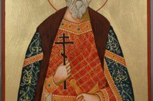 Saint Vladimir Grand Prince of Kiev Hand Painted Orthodox Icon