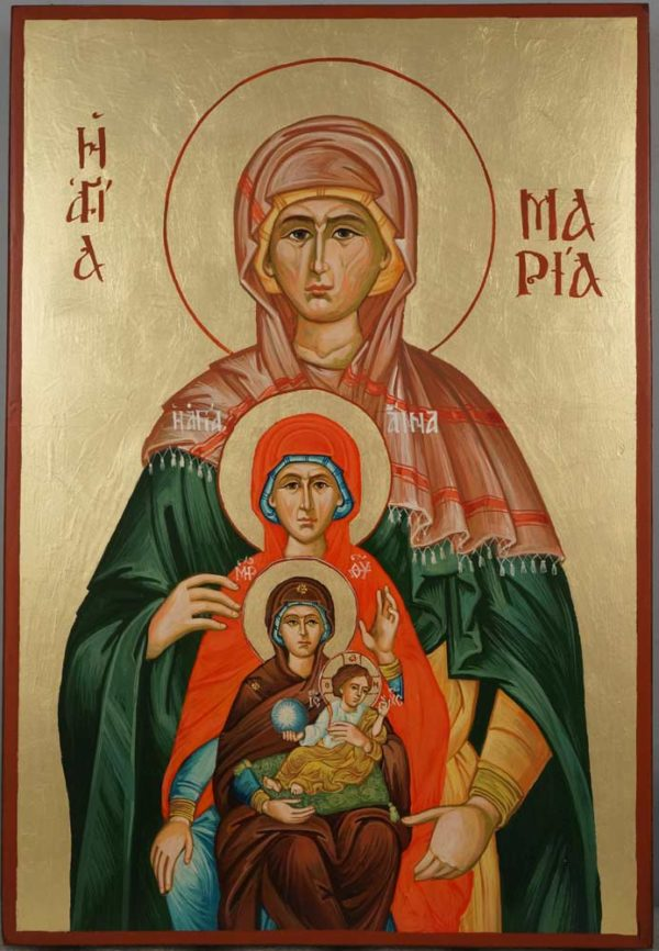 St Maria Great Grandmother of Jesus Hand Painted Icon