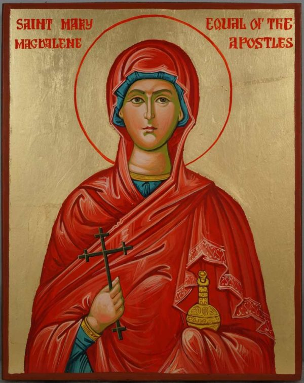 St Mary Magdalene Equal of the Apostles Hand Painted Icon on Wood