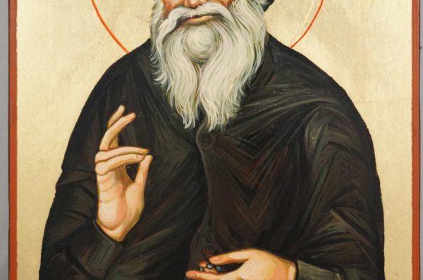 St Porphyrios Bairaktaris of Kafsokalivia Hand Painted Orthodox Icon on Wood