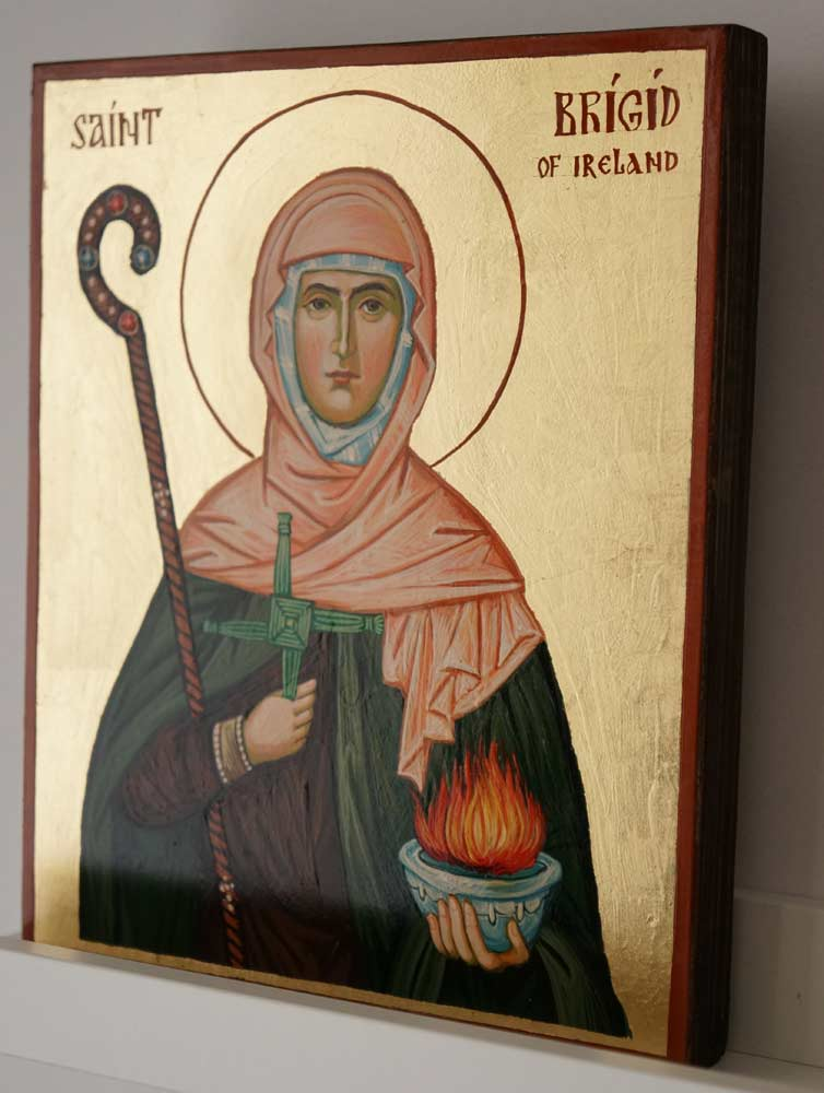 Saint Brigid of Ireland Hand Painted Orthodox Icon