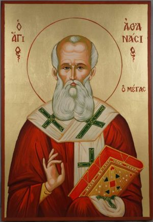 St Athanasius the Great Large Hand Painted Orthodox Icon
