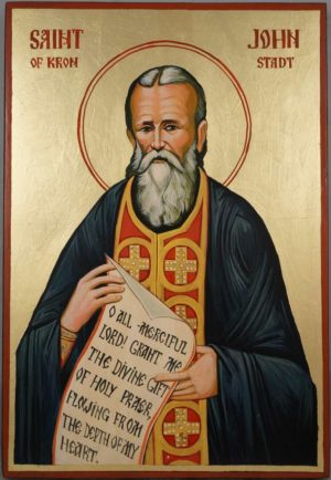 St John of Kronstadt Large Hand Painted Orthodox Icon