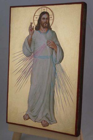 Christ Divine Mercy Icon Hand Painted Roman Catholic Icon