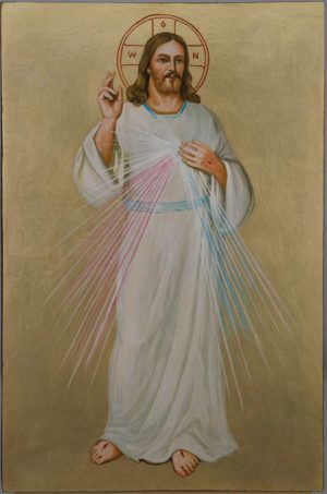 Christ Divine Mercy Icon Hand Painted Roman Catholic Icon