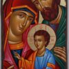 Holy Family Hand Painted Greek Orthodox Icon on Wood