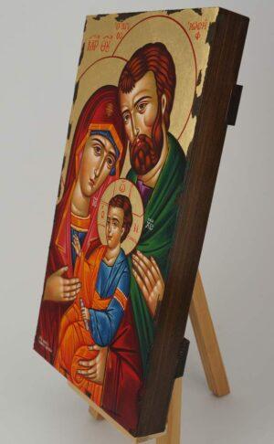 Holy Family Icon Hand Painted Greek Orthodox Byzantine