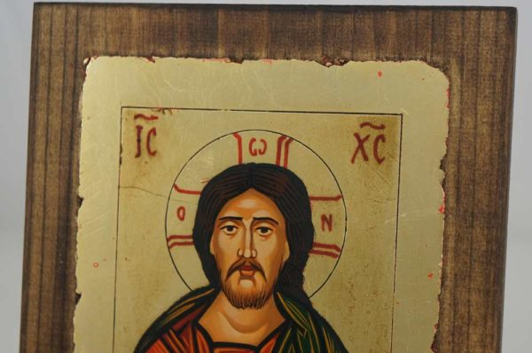 Jesus Christ Pantocrator – closed book Hand Painted Icon Byzantine Orthodox