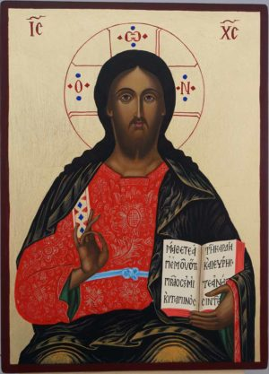 Jesus Christ the Teacher Hand Painted Orthodox Icon on Wood